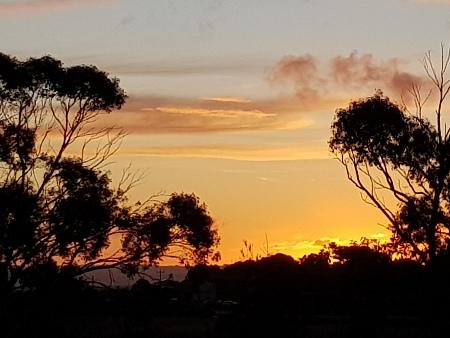 Sunset at Clayton Bay