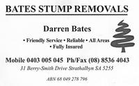 Visit Bates Stump Removals